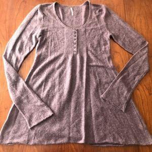 Free People Merino Wool Purple Boho Dress